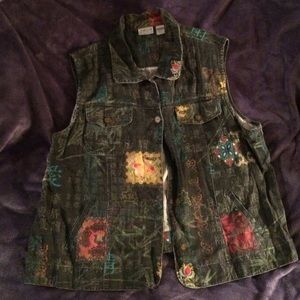 Chico's size 3 Chinese inspired vest